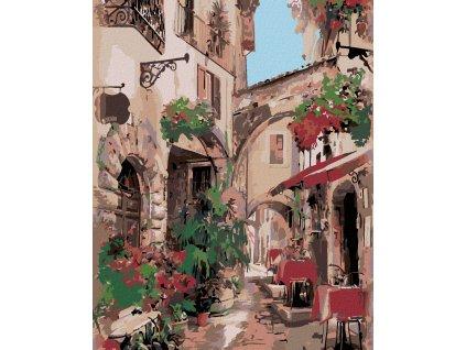 zuty Malování podle čísel - ITALSKÁ ULIČKA Rozměr: 40x50 cm, Rámování: vypnuté plátno na rám
