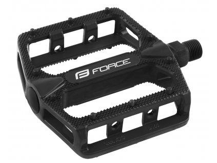 FORCE - pedály HOT hliníkové, černé