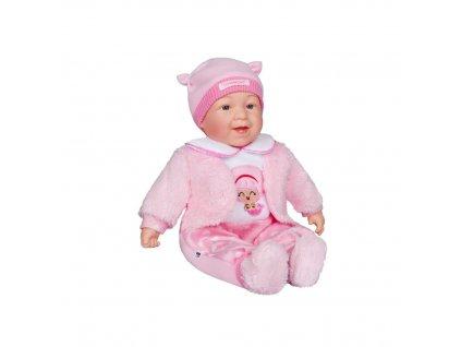 PLAYTO Česky mluvící a zpívající dětská panenka 46cm 1ks Panenka: Nelinka (světle růžová)