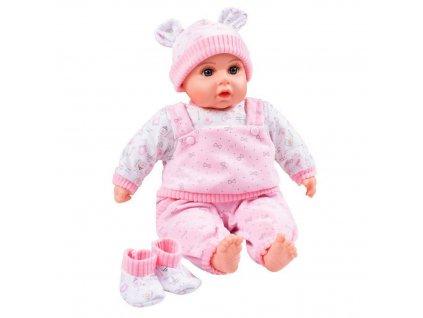 PLAYTO Česky mluvící a zpívající dětská panenka 46cm 1ks Panenka: Julie (světle růžová)