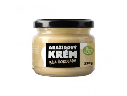 Zdravýkoš Arašídový krém - Bílá čokoláda 220g