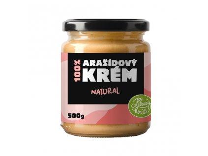 Zdravýkoš Arašídový krém - 100% Natural 500g