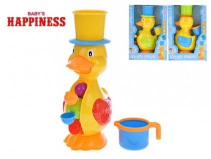 kacenka 28cm s mlynkem na vodu baby s happiness 3barvy 12m v krabicce