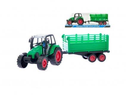 63401 traktor s vleckou 40 cm na setrvacnik v krabicce