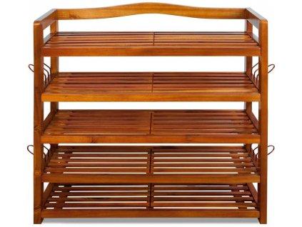 41525 dřevěný botník s 5 policemi, 95 x 26 x 82 cm