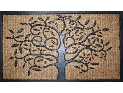 Rohožka Kokos + guma strom - 40x70 cm