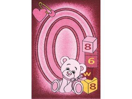 Spoltex koberce Liberec Dětský kusový koberec Toys pink C 126 - 133x195 cm