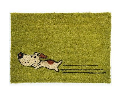 Rohožka Kokos Zelený pes - 40x60 cm