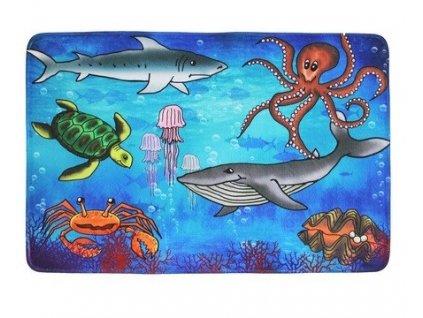 Vopi koberce Protiskluzový kusový koberec Sea world - 76,5x117 cm