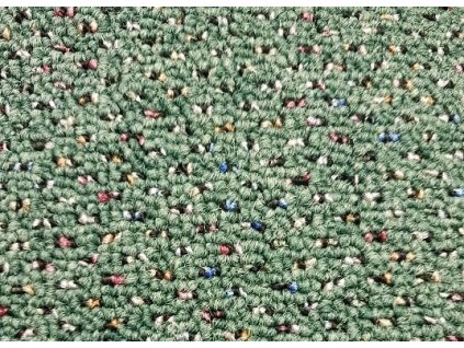 Metrážový koberec New Techno 25770 zelená - Rozměr na míru bez obšití cm