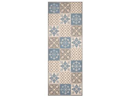 Zala Living - Hanse Home koberce Běhoun Mare 67x180 Vibe 103492 creme brown blue - 67x180 cm