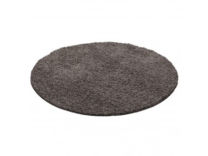 Ayyildiz koberce Kusový koberec Dream Shaggy 4000 taupe kruh - 120x120 (průměr) kruh cm