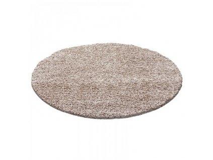 Ayyildiz koberce Kusový koberec Dream Shaggy 4000 beige kruh - 120x120 (průměr) kruh cm