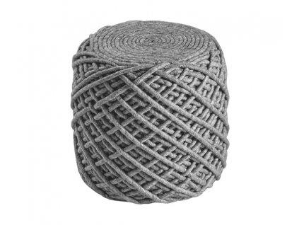 Obsession koberce Sedací vak ROYAL POUF POR 888 Silver - Průměr 40-45 cm cm