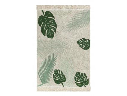 Lorena Canals koberce Ručně tkaný kusový koberec Tropical Green - 140x200 cm