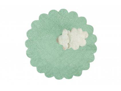 Lorena Canals koberce Ručně tkaný kusový koberec Puffy Sheep - 140x140 kytka cm