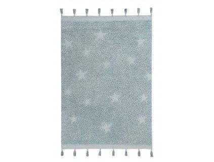 Lorena Canals koberce Ručně tkaný kusový koberec Hippy Stars Aqua Blue - 120x175 cm