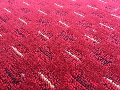 Vopi koberce AKCE: 150x600 cm Metrážový koberec Valencia červená - Rozměr na míru bez obšití cm