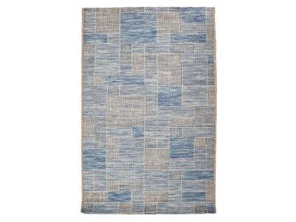 Kusový koberec Terazza 21107-733 Ivory Silver/Blue - 80x150 cm
