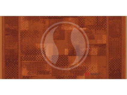 Associated Weavers koberce Protiskluzový běhoun na míru Tribe 84 červený - šíře 67 cm s obšitím