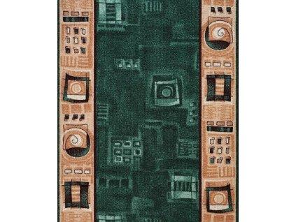 Protiskluzový běhoun na míru Zara 961 zelená - šíře 70 cm s obšitím