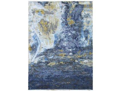Diamond Carpets koberce Ručně vázaný kusový koberec Diamond DC-Galaxy 4 Silver/Mix - 180x275 cm