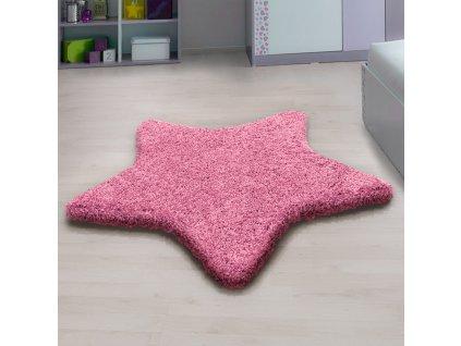 Ayyildiz koberce Kusový koberec Star 1300 pink - 160x160 hvězda cm