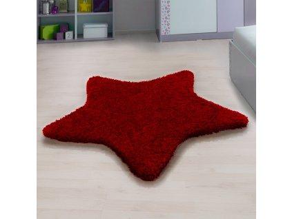 Ayyildiz koberce Kusový koberec Star 1300 red - 160x160 hvězda cm