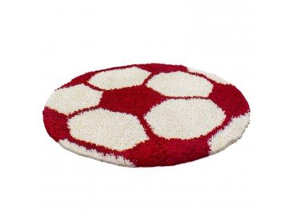 Ayyildiz koberce Kusový koberec Fun 6001 red - 100x100 (průměr) kruh cm