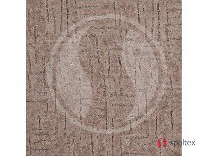 Spoltex koberce Liberec Metrážový koberec Sprint 43 hnědý - Rozměr na míru bez obšití cm