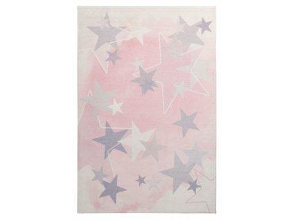 Obsession koberce Dětský kusový koberec Stars 410 pink - 120x170 cm
