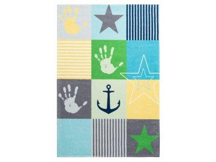 Obsession koberce Dětský kusový koberec Stars 411 blue - 120x170 cm