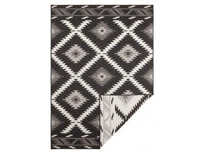 Bougari - Hanse Home koberce AKCE: Kusový koberec Twin Supreme 103429 Malibu black creme - 120x170 cm