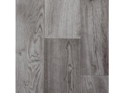 Spoltex koberce Liberec AKCE: 65x395 cm PVC podlaha Supertex 4310-477 tmavě šedý - Rozměr na míru cm