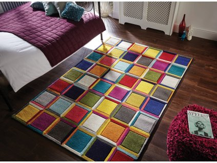 Flair Rugs koberce Kusový koberec Spectrum Waltz Multi - 80x150 cm