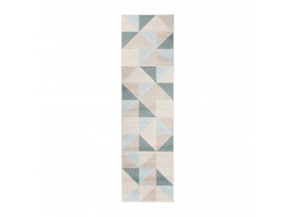 Flair Rugs koberce Kusový koberec Urban Triangle Blue - 100x150 cm