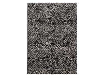 Astra - Golze koberce AKCE: 80x150 cm Kusový koberec Carpi 151041 Stripes Anthracite - 80x150 cm