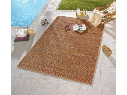 Bougari - Hanse Home koberce Venkovní kusový koberec Lotus Terra Orange Meliert - 80x240 cm