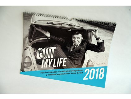 Limitovaná edice kalendářů s fotografiemi Karla Gotta, rok 2018