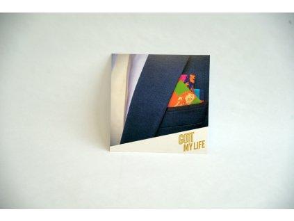 Kapesník barevný ve zlaté dárkové krabičce s certifikátem
