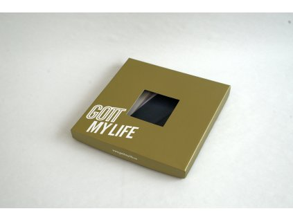 Šátek barevný ve zlaté dárkové krabice s certifikátem