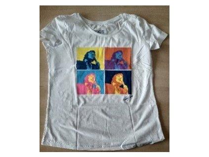 Tričko bílé pánské barvy.  Limitovaná edice ku příležitosti výstavy Gott, my life. S-XXL