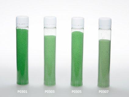 Barevný písek - zelená barva