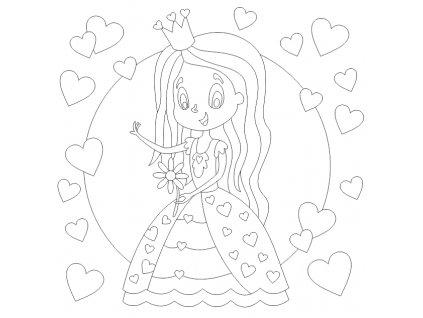 Šablona Princezna se srdíčky