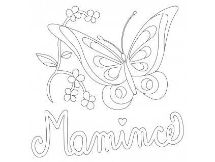 Šablona Motýlek mamince