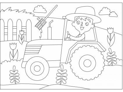 Šablona Farmář v traktůrku