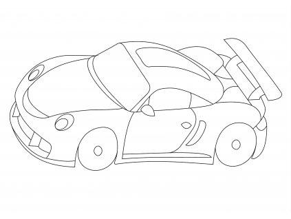 Šablona Závodní autíčko