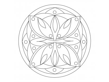 Šablona Mandala 0113