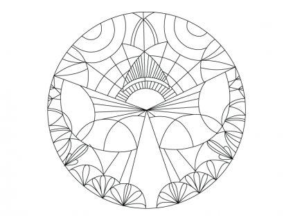 Šablona Mandala 0419