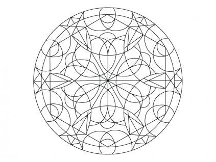 Šablona Mandala 0413